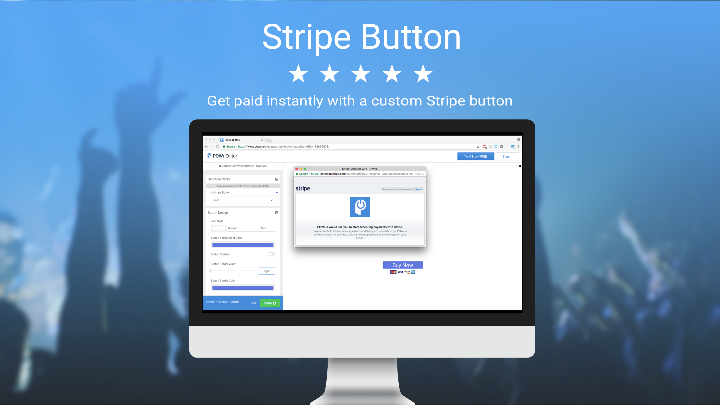 POWr Stripe Button screenshot 0