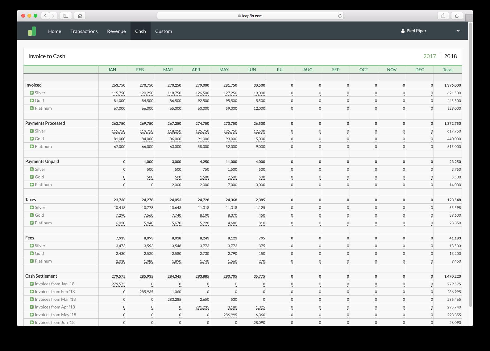 Leapfin screenshot 1