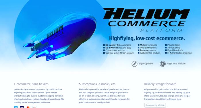 Helium Commerce Platform screenshot 1