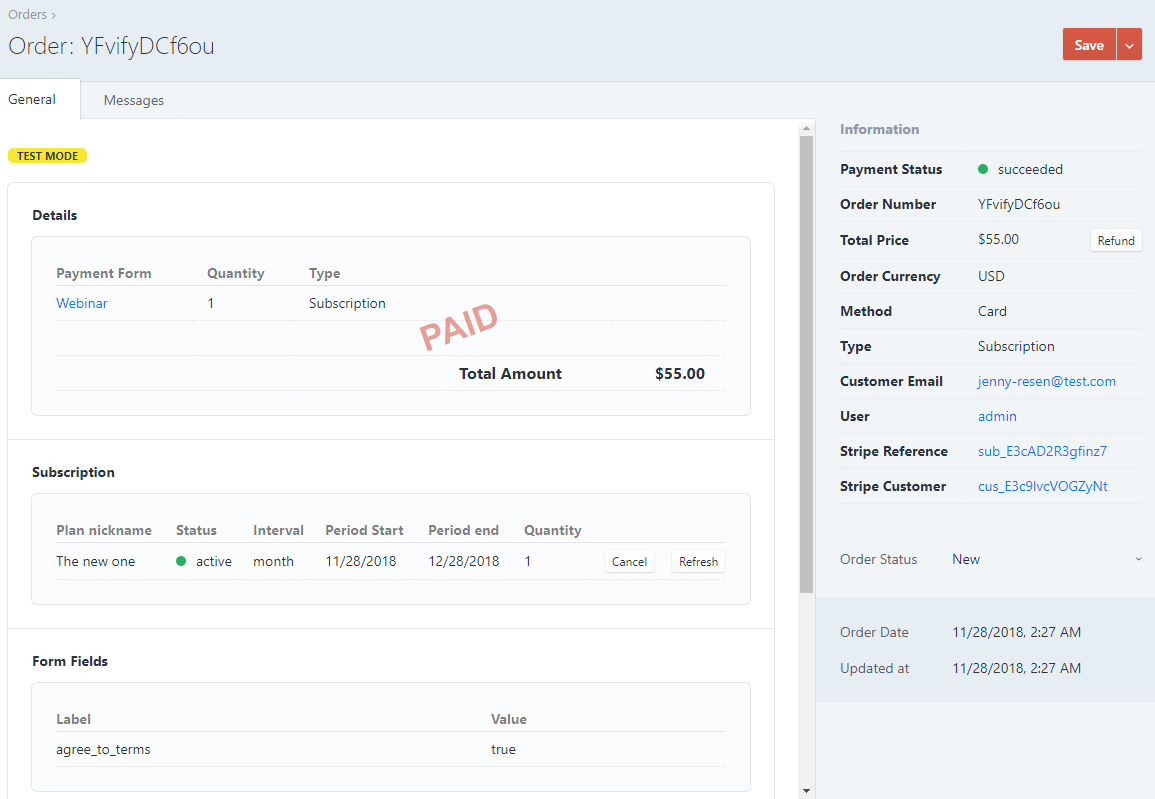 Stripe Payments for Craft CMS screenshot 2