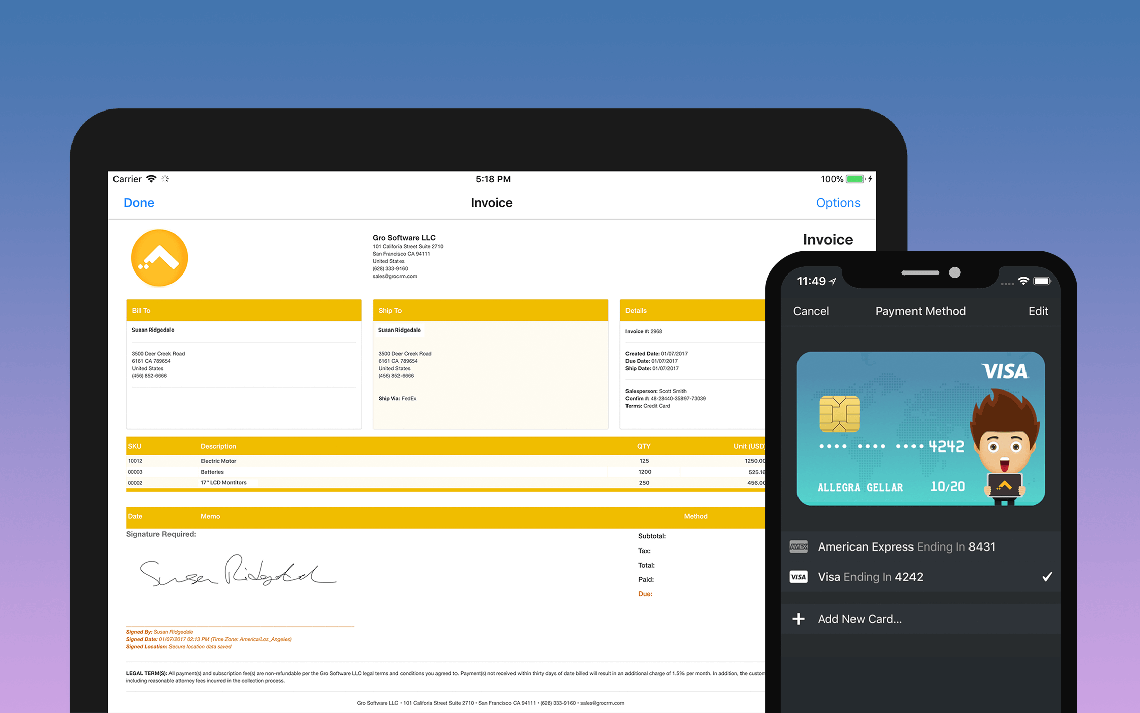 Gro CRM screenshot 2