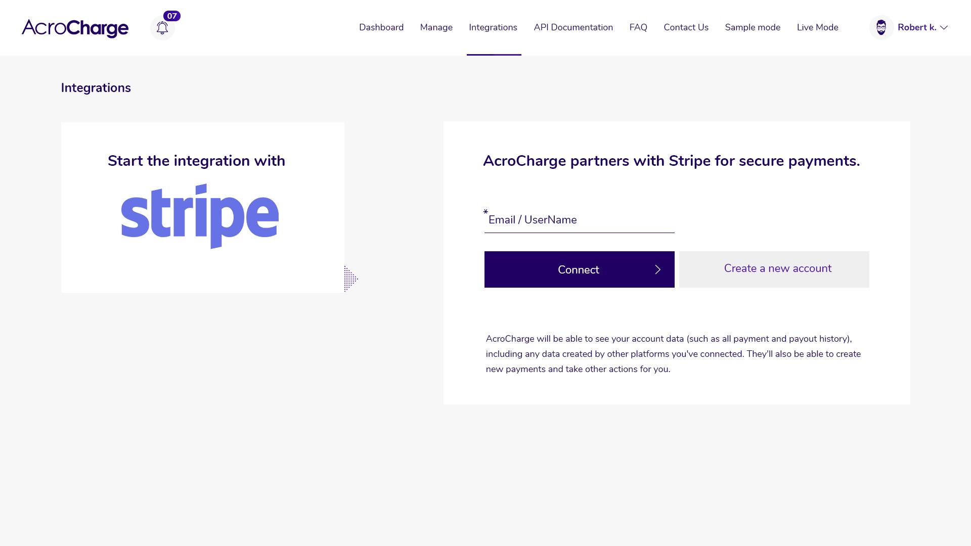 Acrocharge  Ltd. screenshot 2