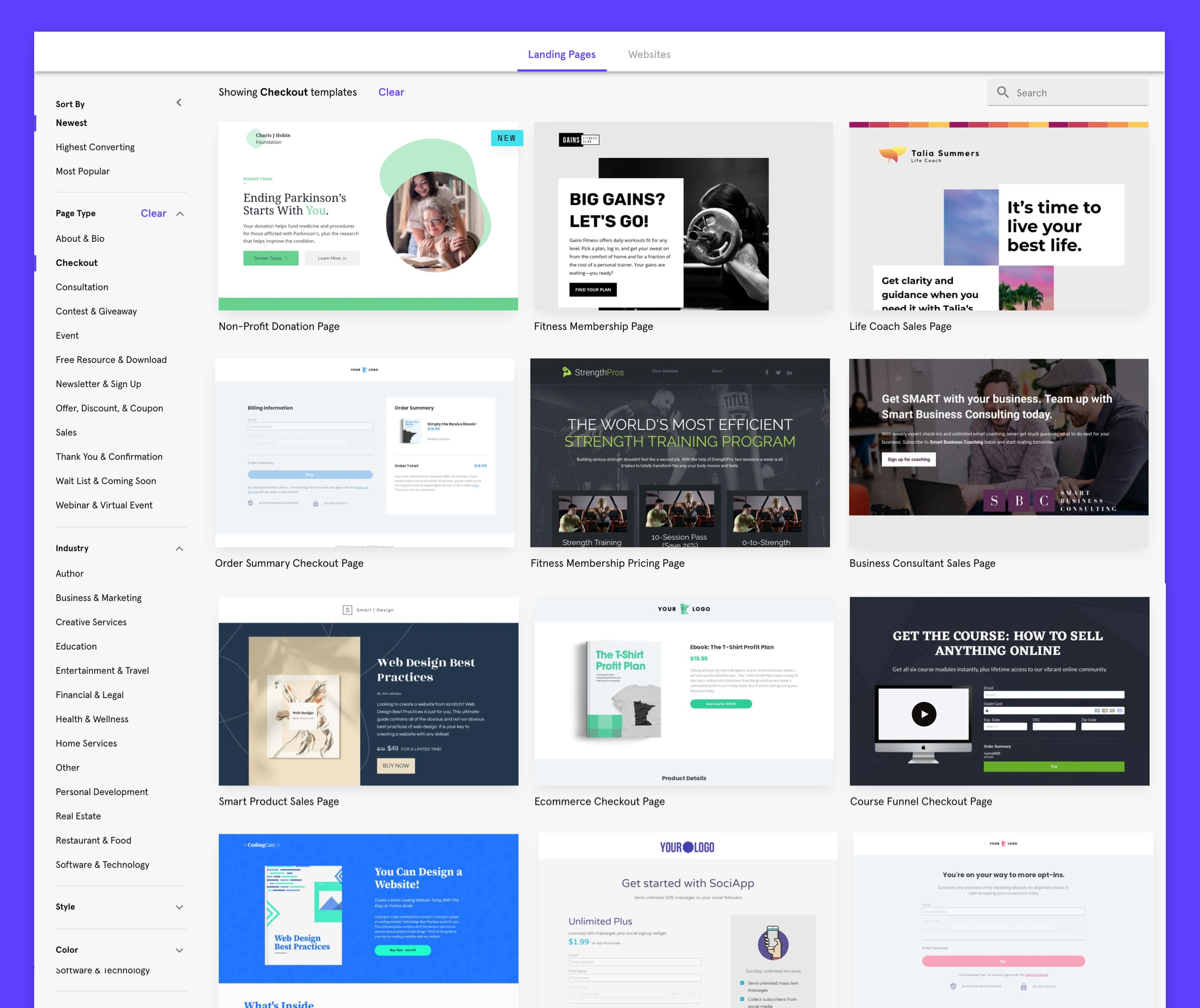 Leadpages screenshot 0