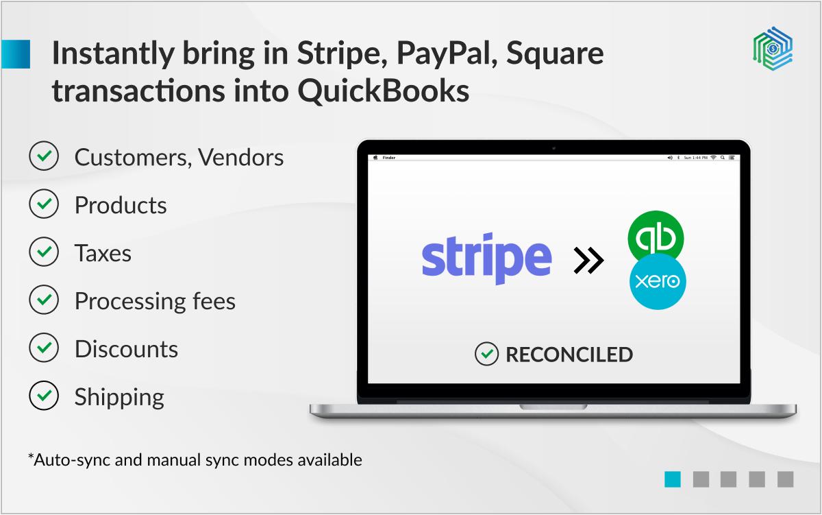 Stripe <-> QuickBooks/Xero integration screenshot 0