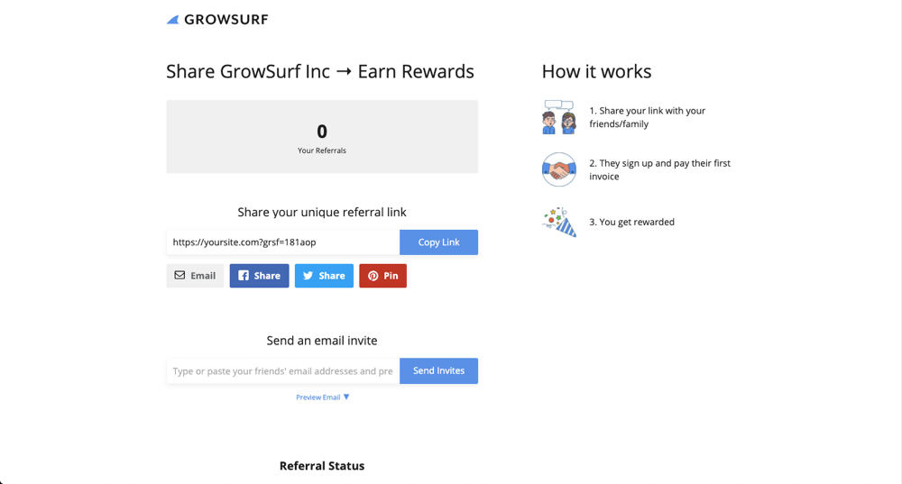 GrowSurf screenshot 1