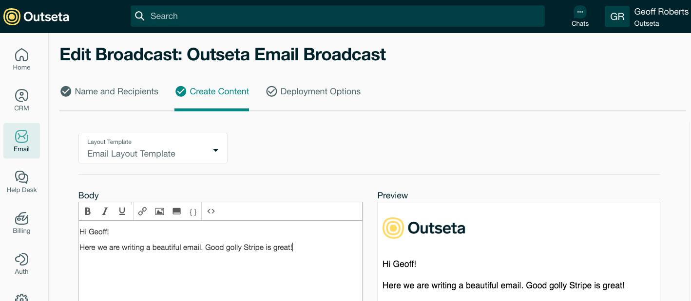 Outseta screenshot 2