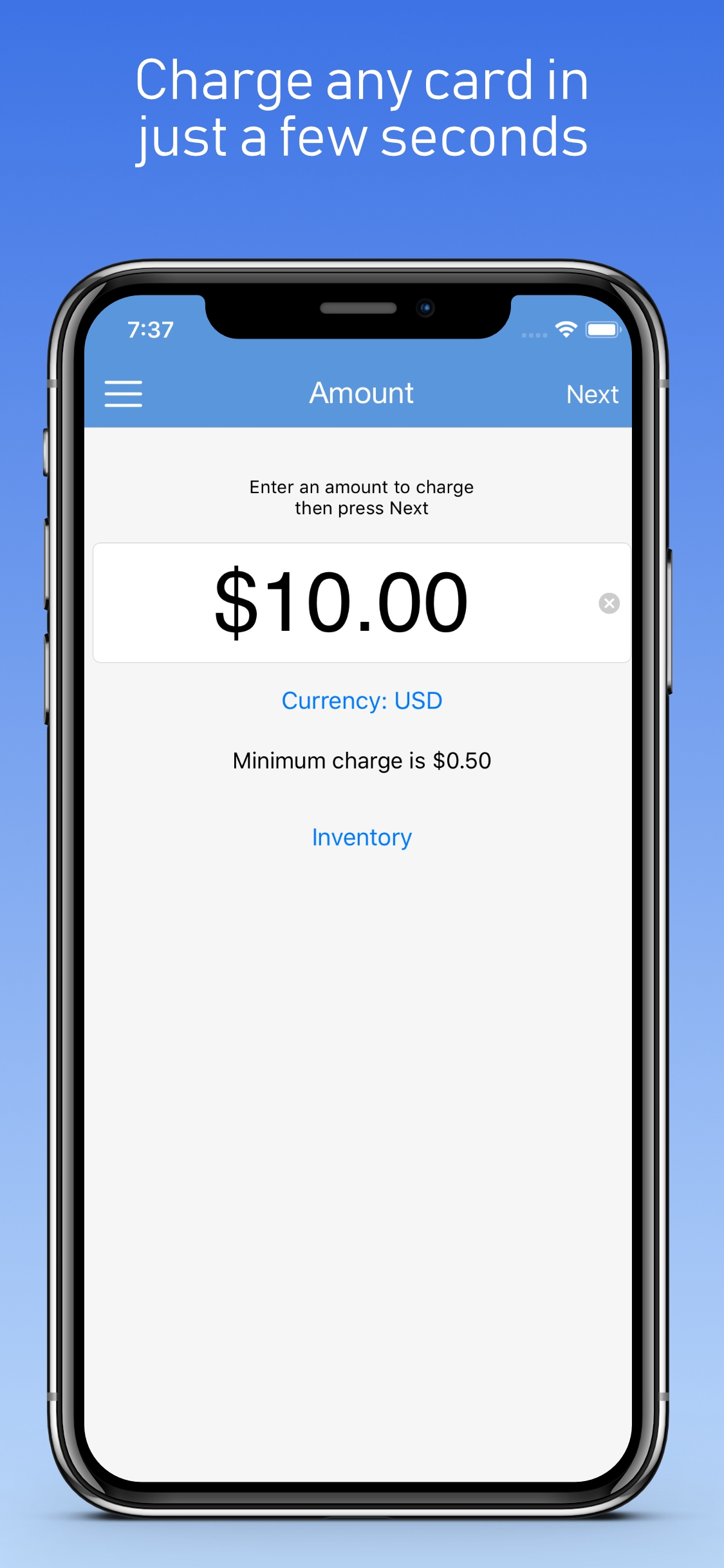 ChargeStripe screenshot 0