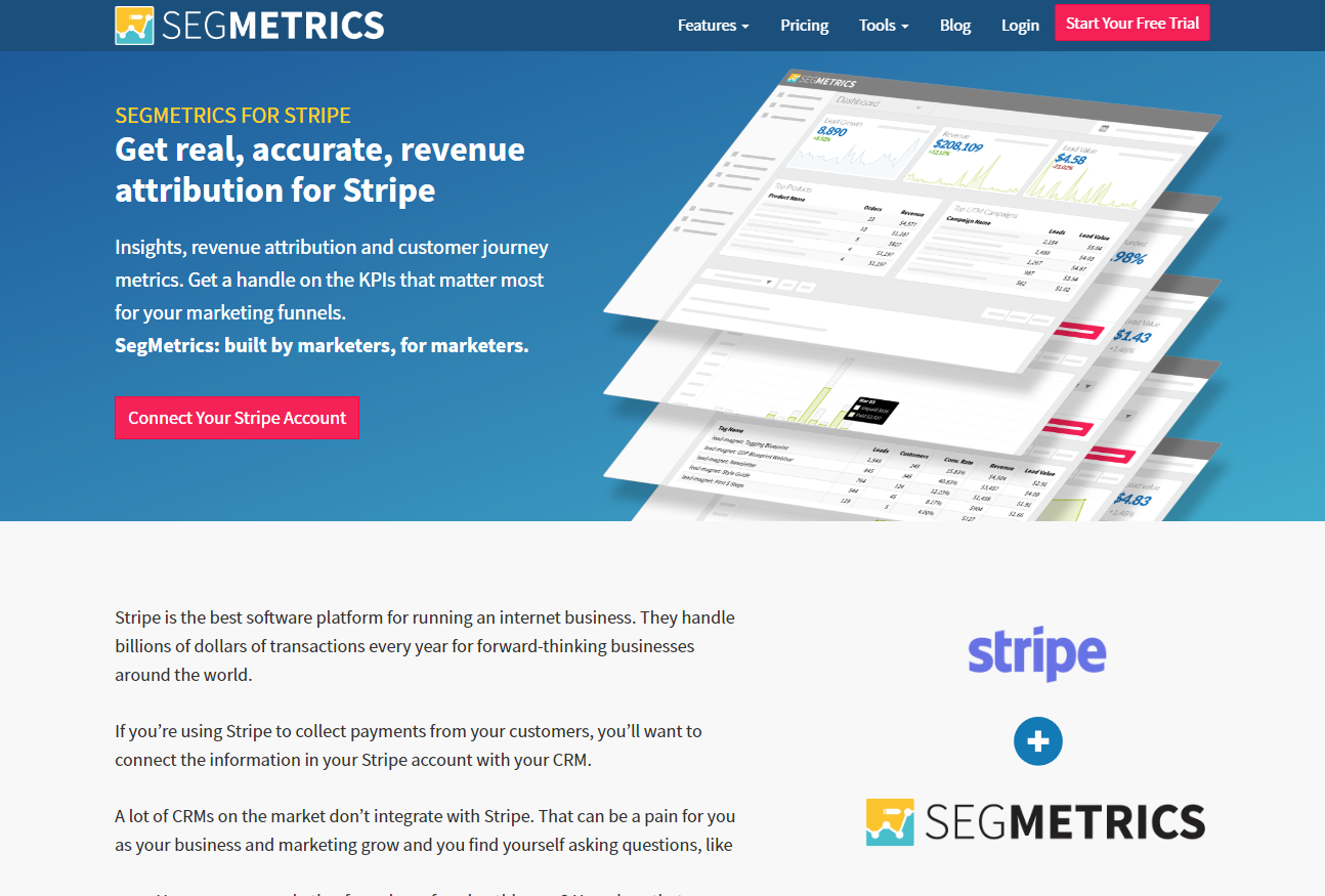 SegMetrics Marketing Analysis and Insights Tool for Stripe screenshot 0