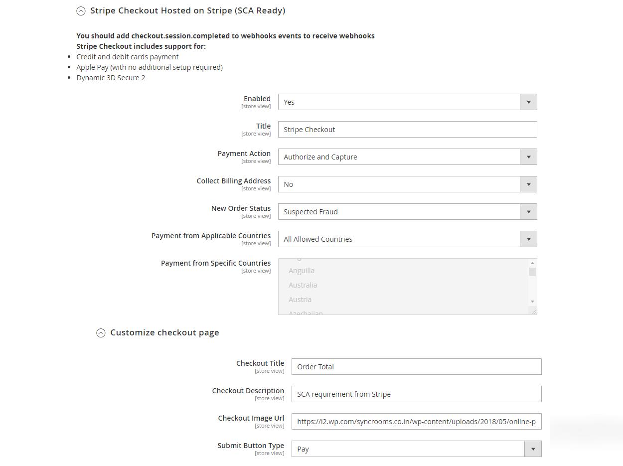 Magento 2 Stripe Payment Gateway screenshot 2