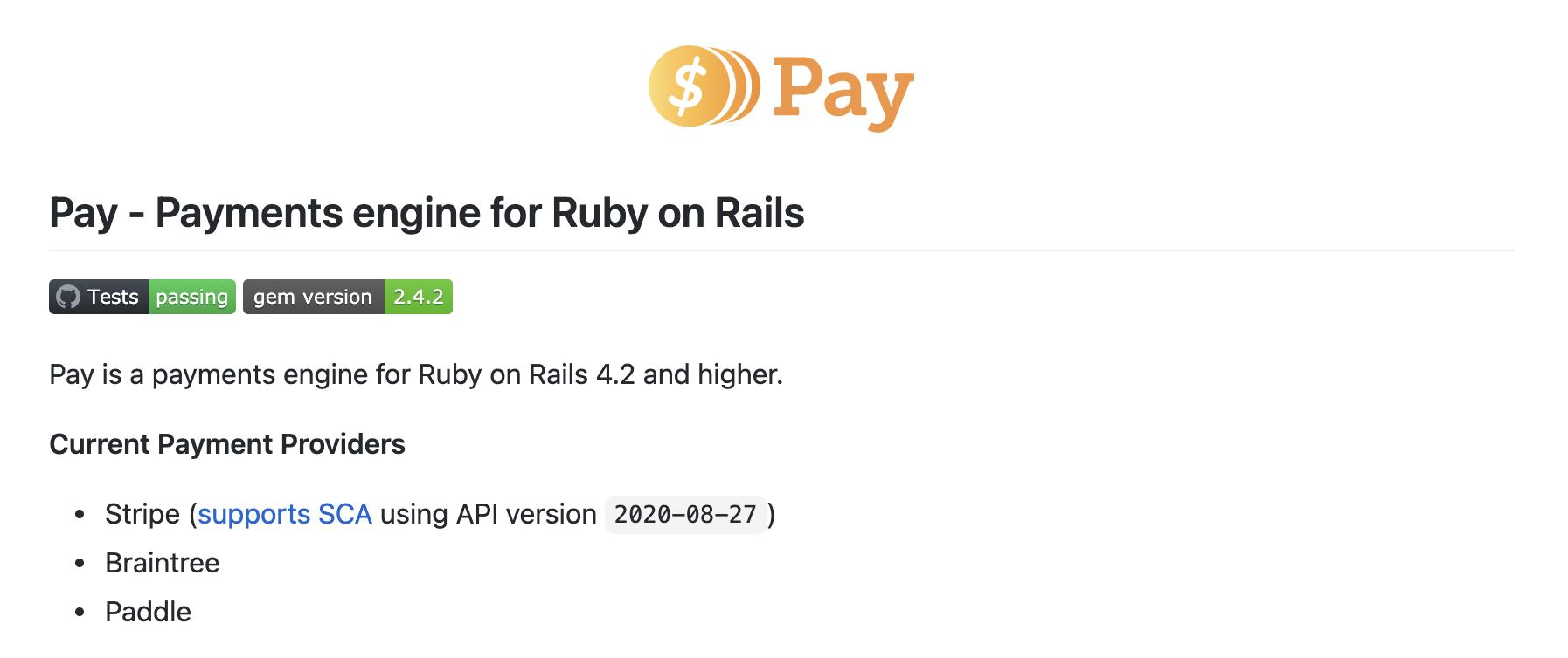 Pay Rails screenshot 0