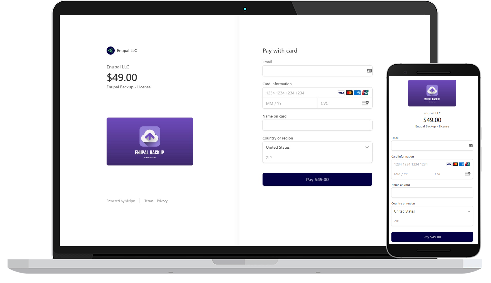 Stripe Payments for Craft CMS screenshot 0