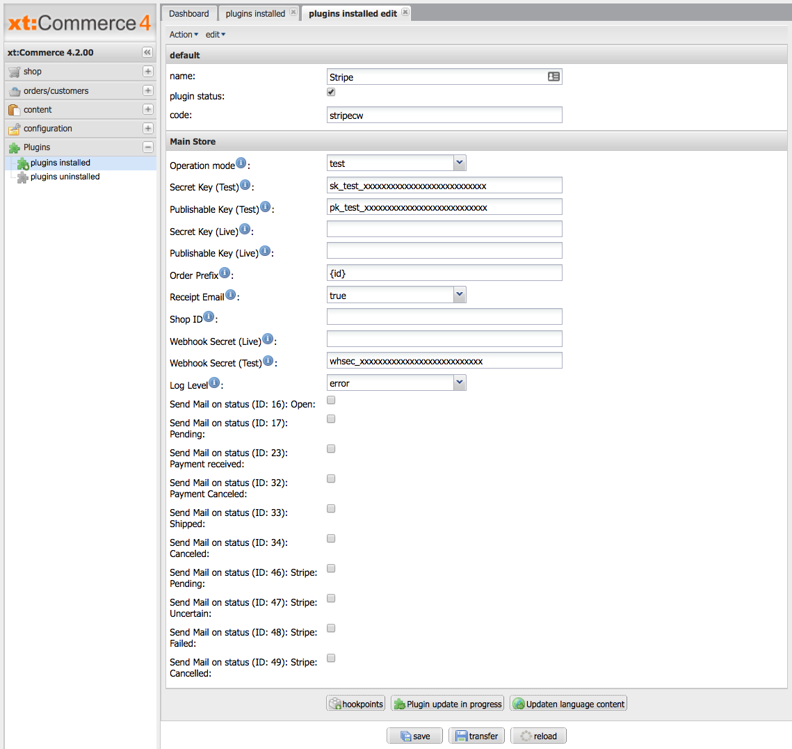 Sellxed xt:Commerce 4/5 screenshot 1