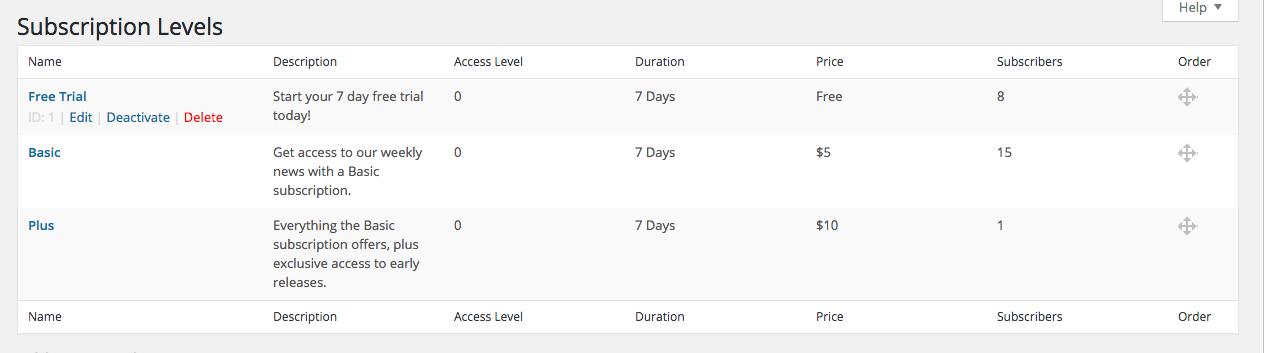 Restrict Content Pro screenshot 1