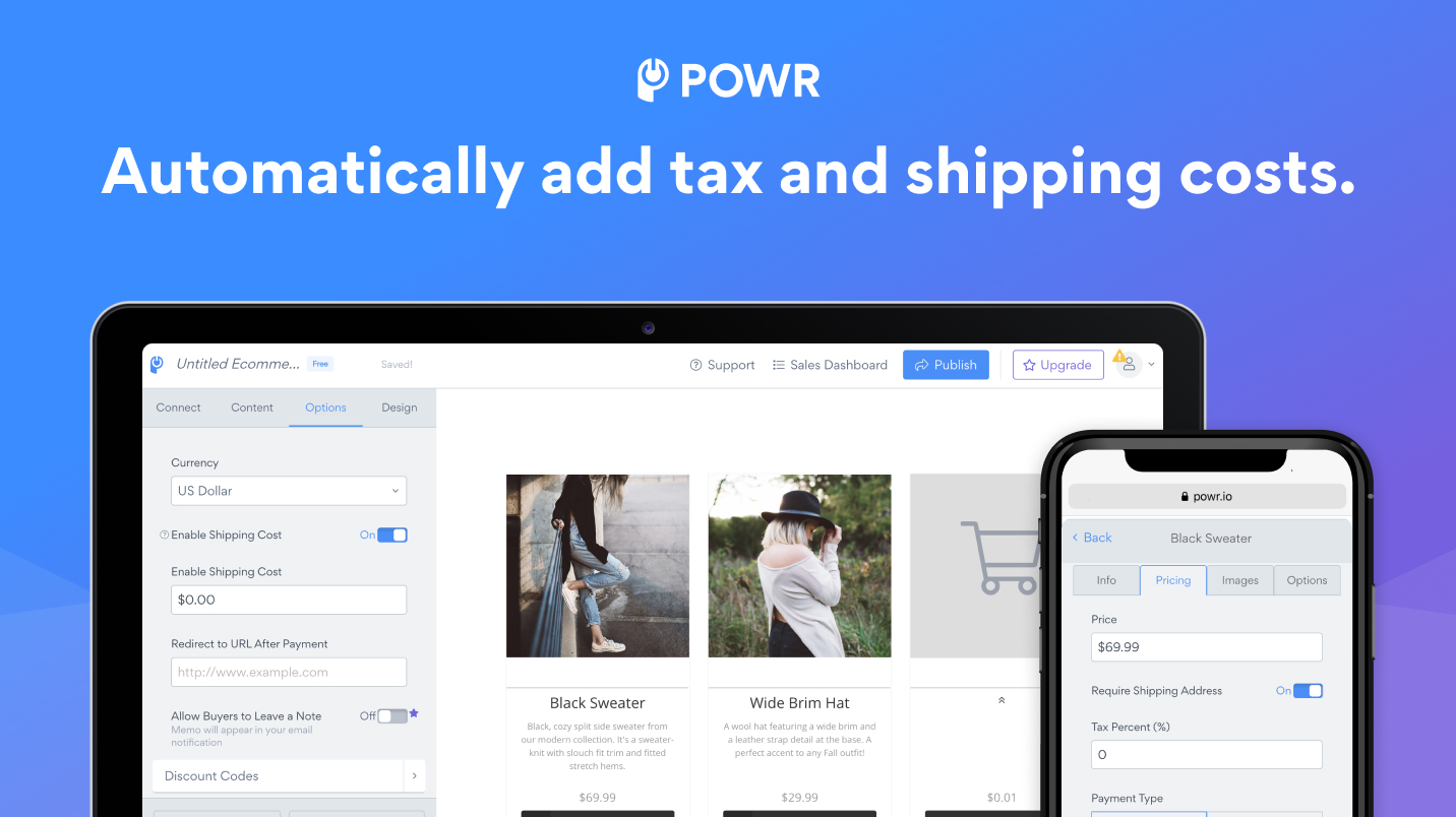 POWR Ecommerce screenshot 2