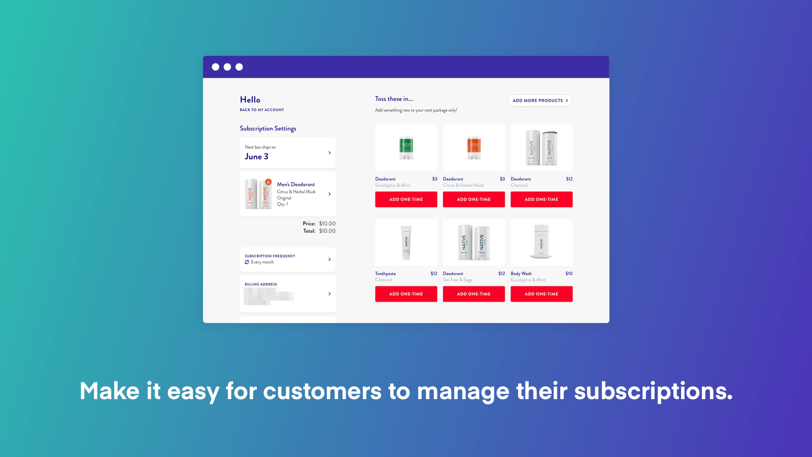 Subscriptions by ReCharge screenshot 0