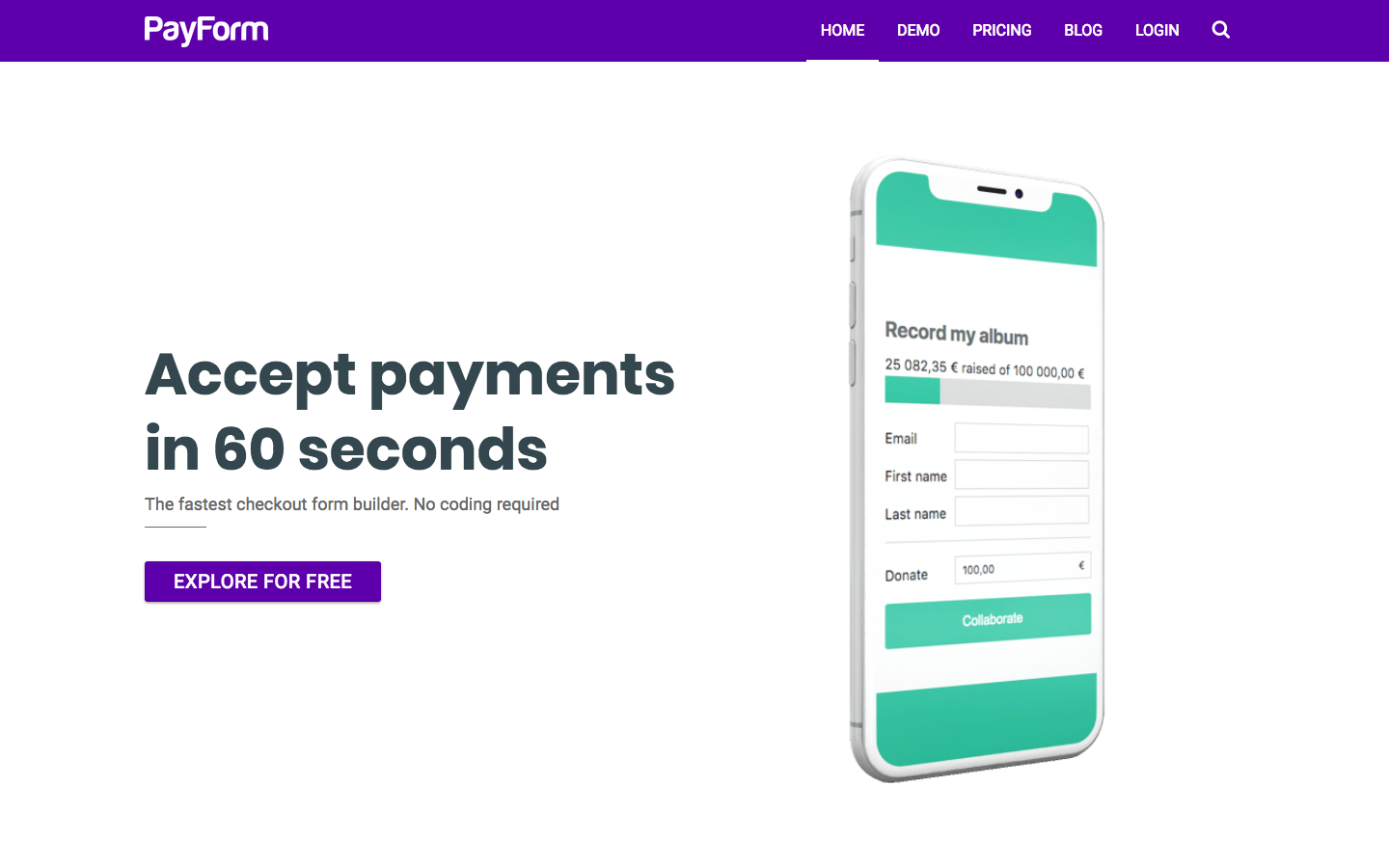 PayForm screenshot 0