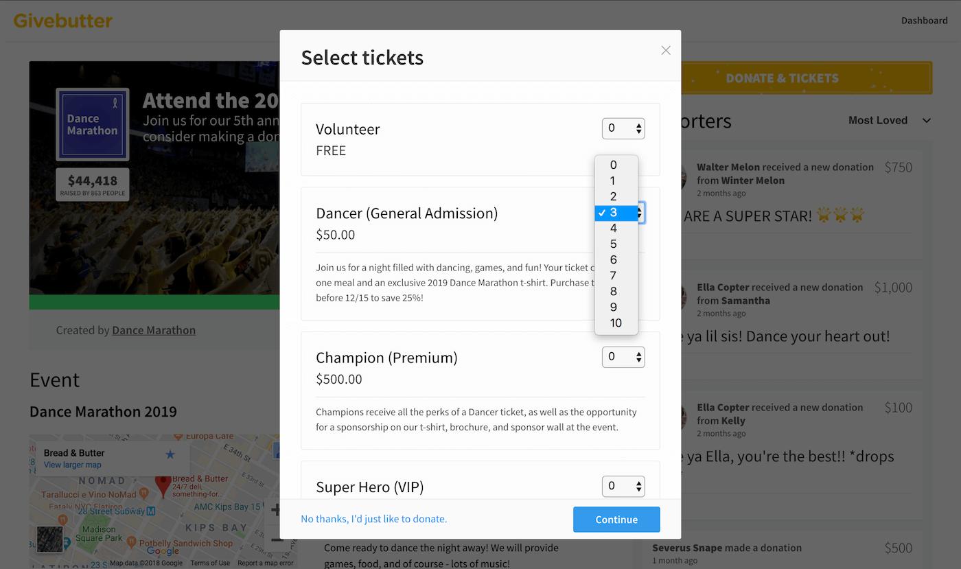 Givebutter screenshot 1