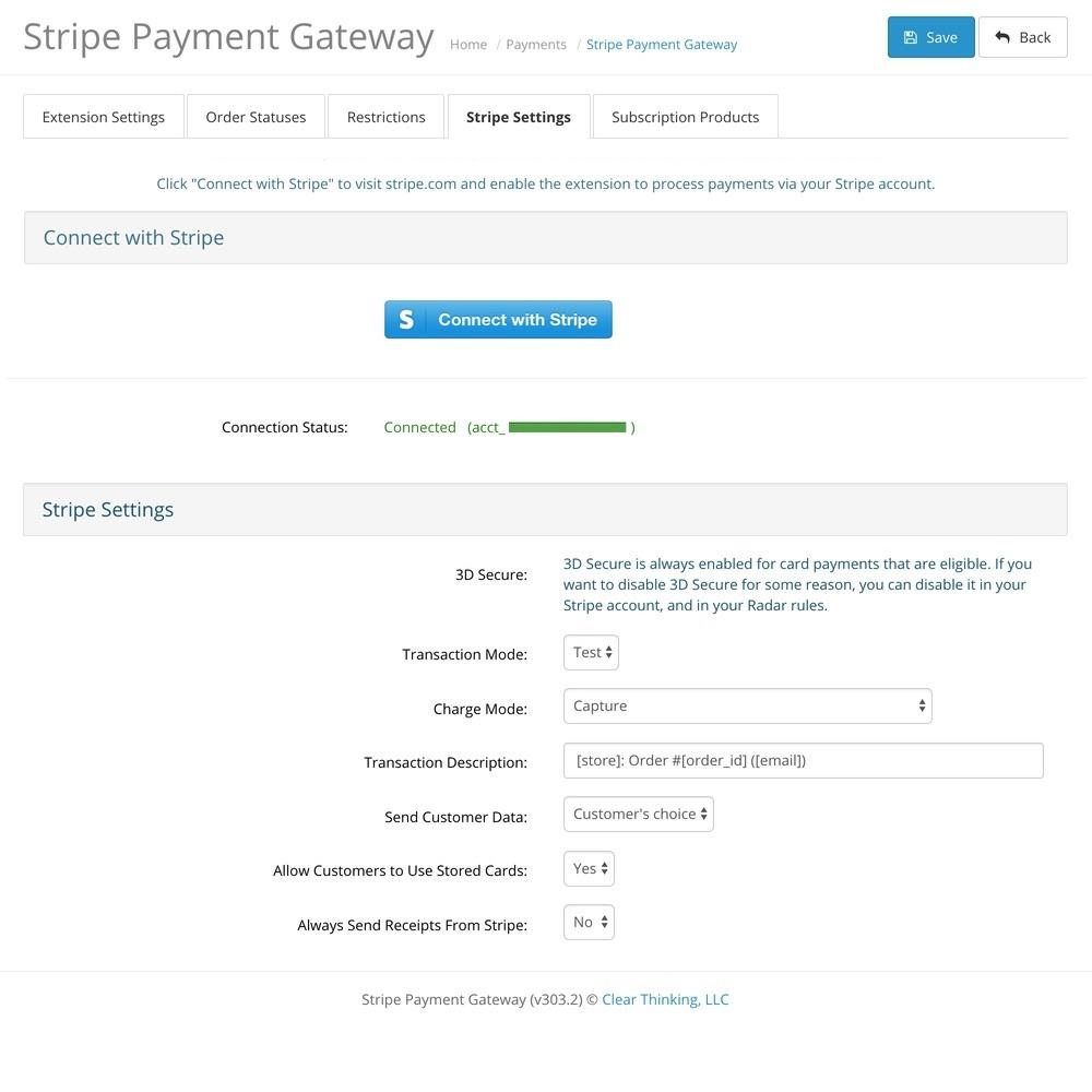 OpenCart Stripe Payment Gateway screenshot 2