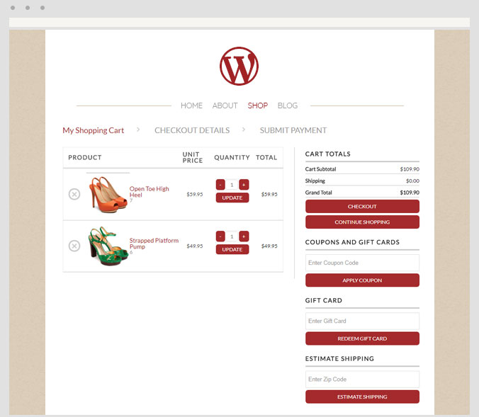 WP EasyCart screenshot 2