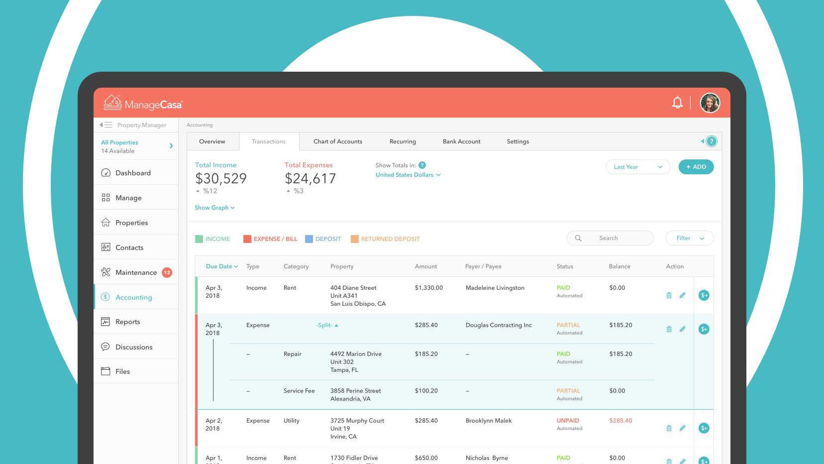 ManageCasa Property Management Software screenshot 1
