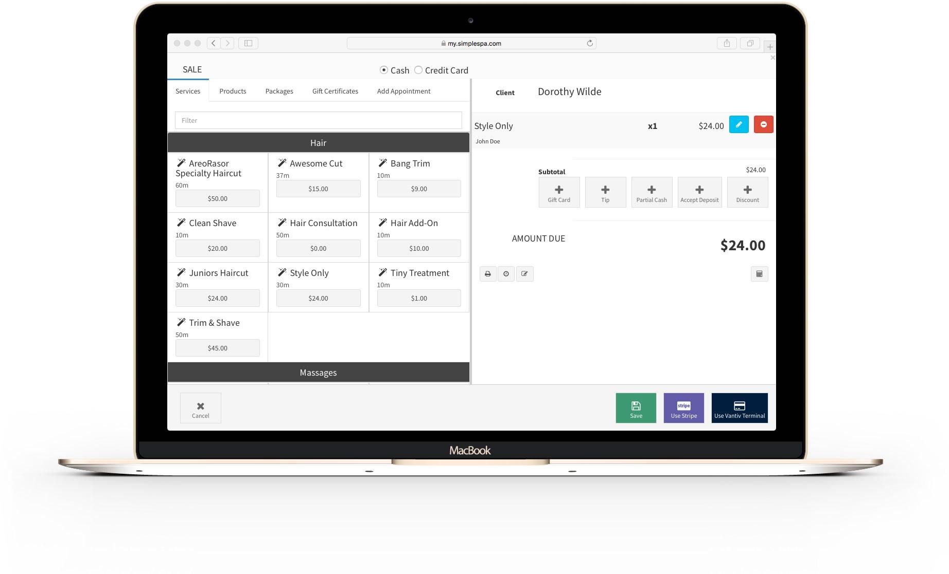 SimpleSpa screenshot 1