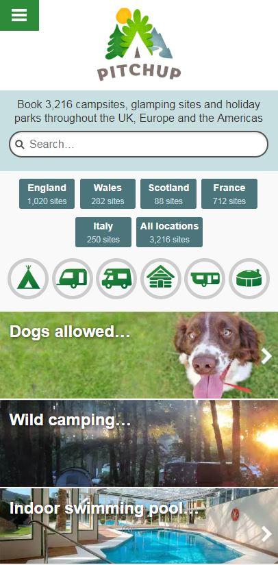 Pitchup.com screenshot 0