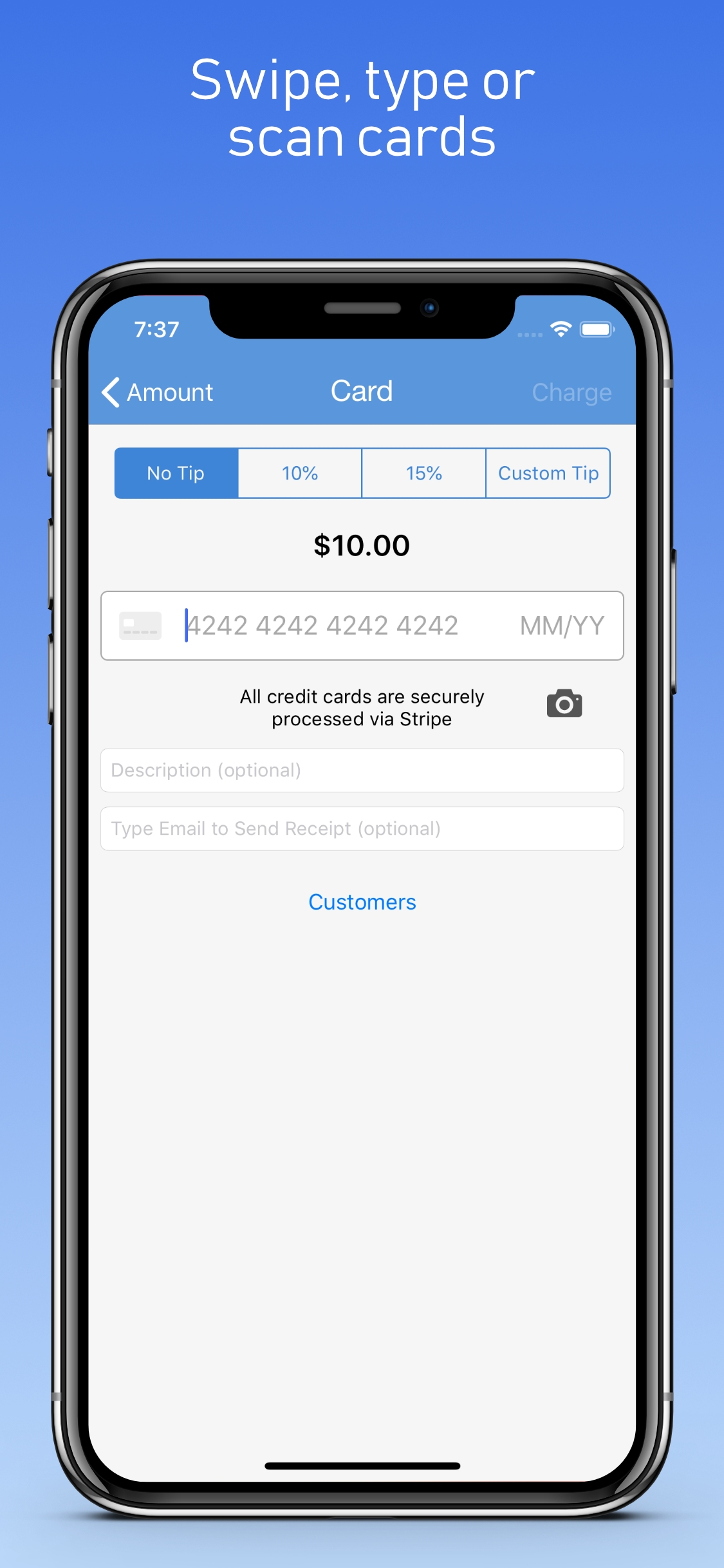 ChargeStripe screenshot 1