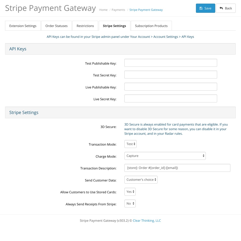 OpenCart Stripe Payment Gateway screenshot 1