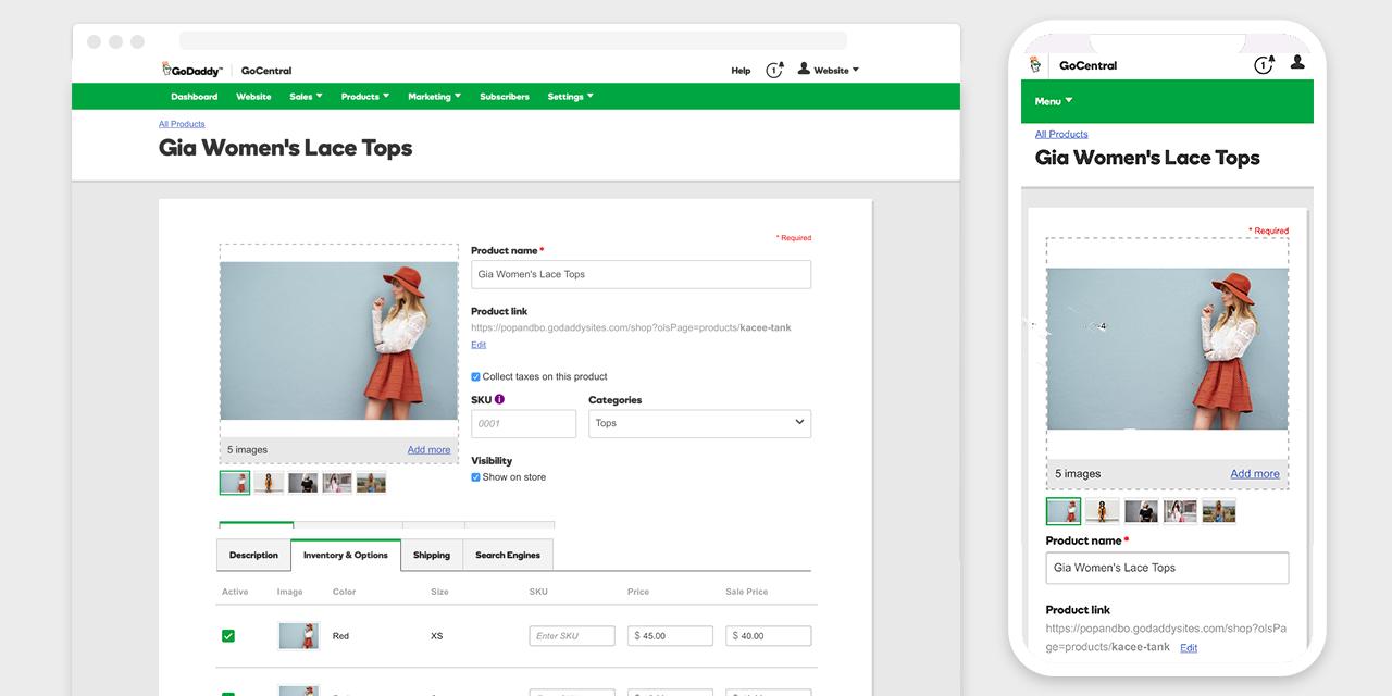 GoDaddy GoCentral Online Store screenshot 2