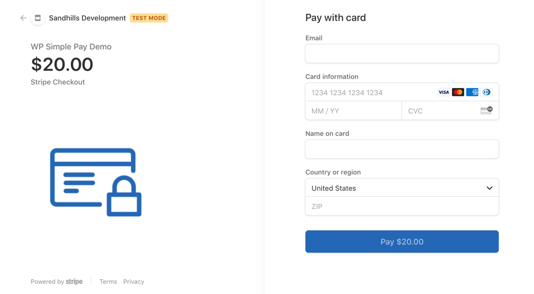 WP Simple Pay screenshot 2