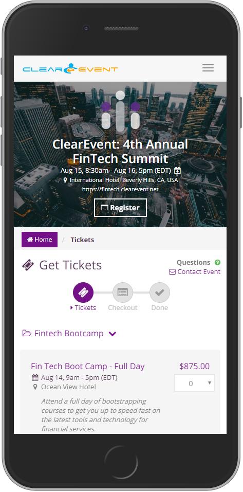 ClearEvent screenshot 2