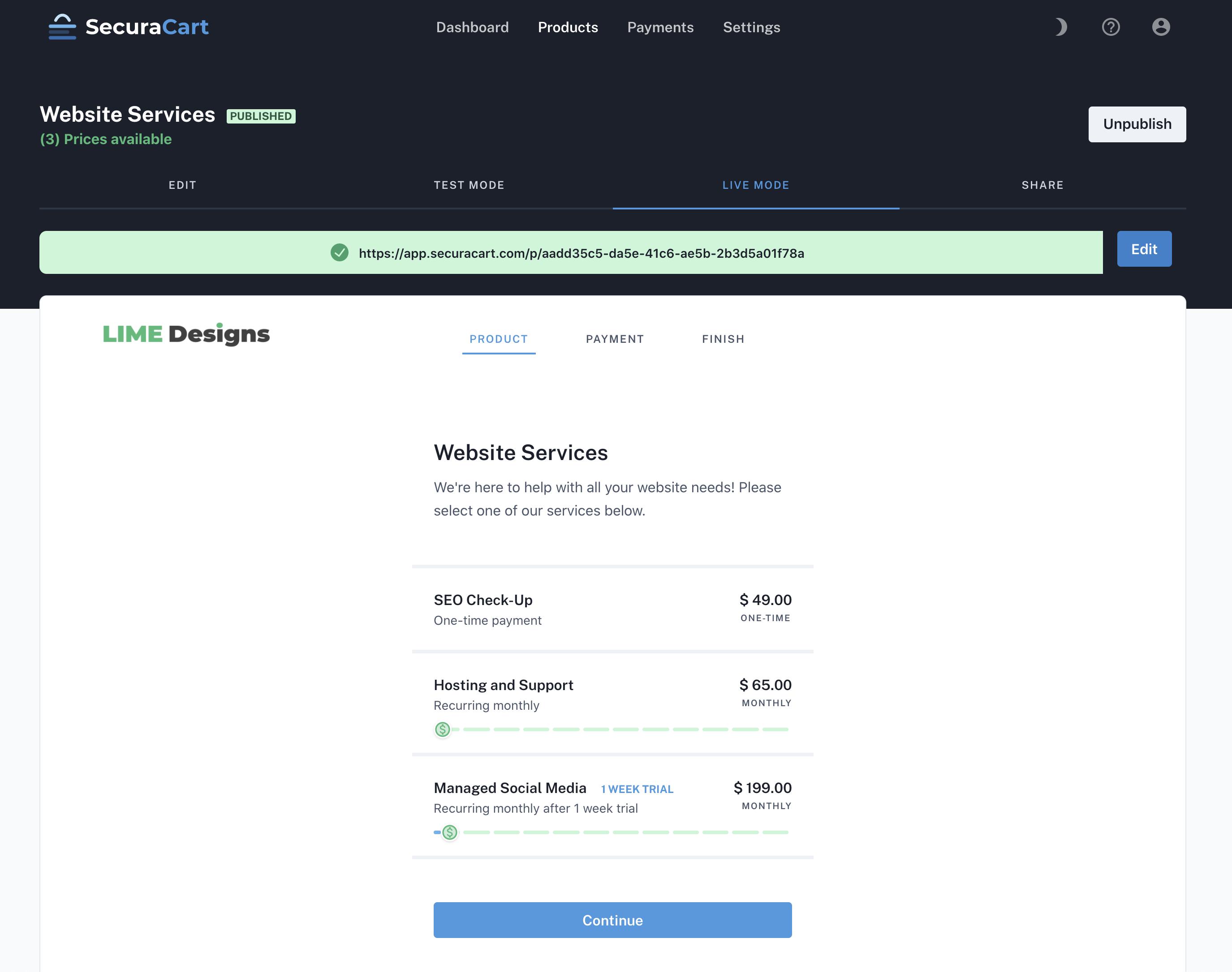 SecuraCart screenshot 2