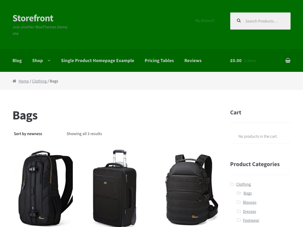 WooCommerce screenshot 1