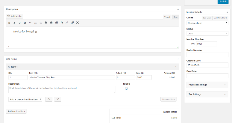 Sliced Invoices screenshot 1