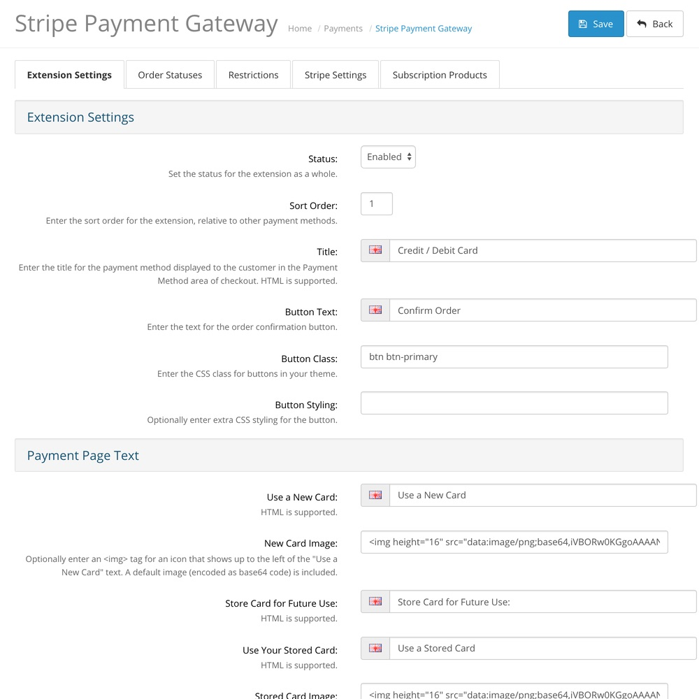 OpenCart Stripe Payment Gateway screenshot 0