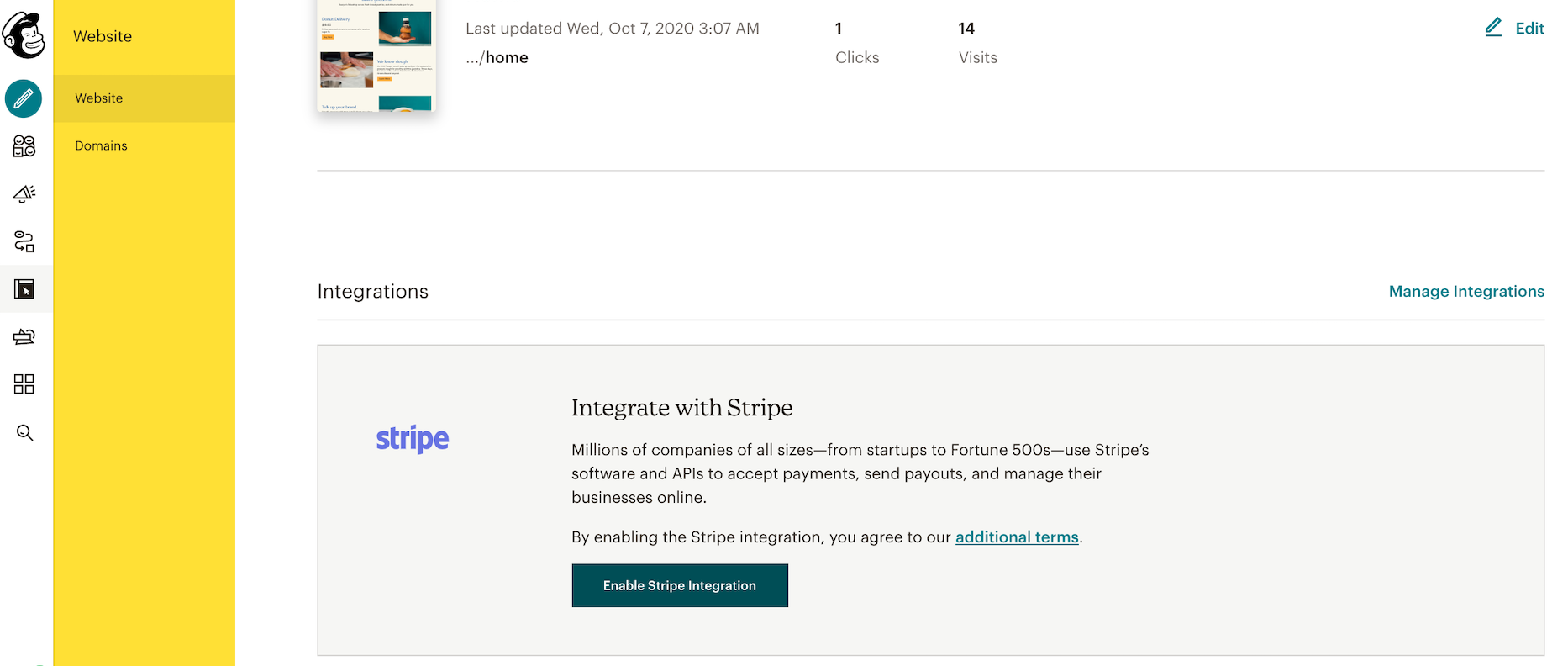 Mailchimp Websites screenshot 1