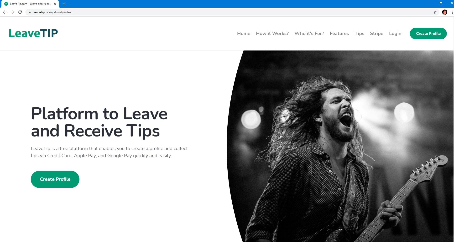 LeaveTip.com screenshot 0
