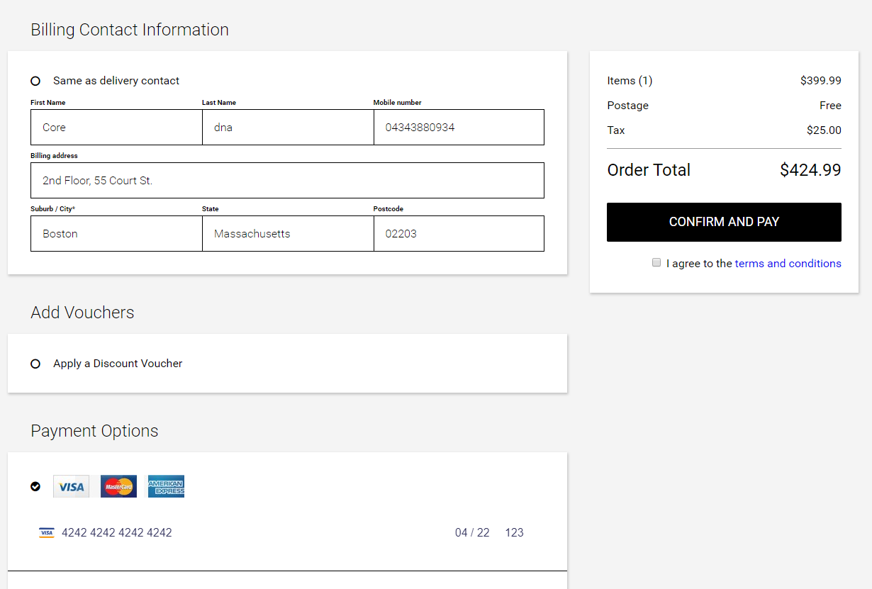 Core dna eCommerce screenshot 2