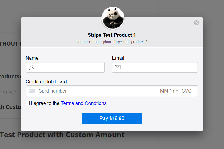 Stripe Payments Plugin screenshot 1