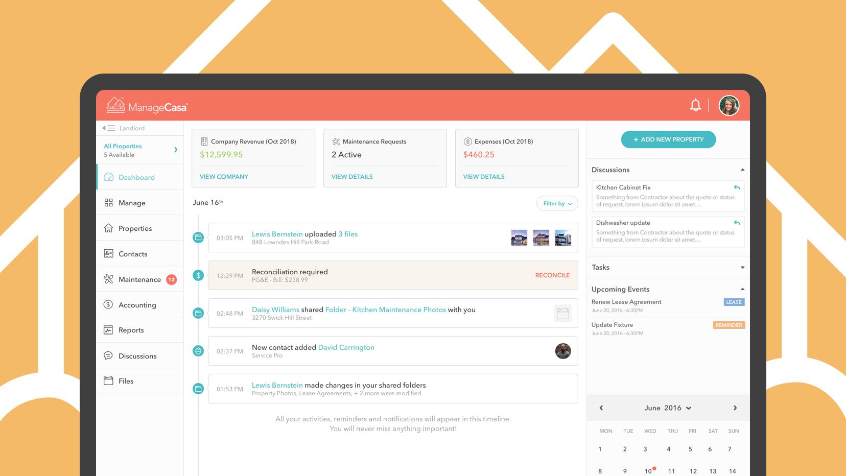 ManageCasa Property Management Software screenshot 0