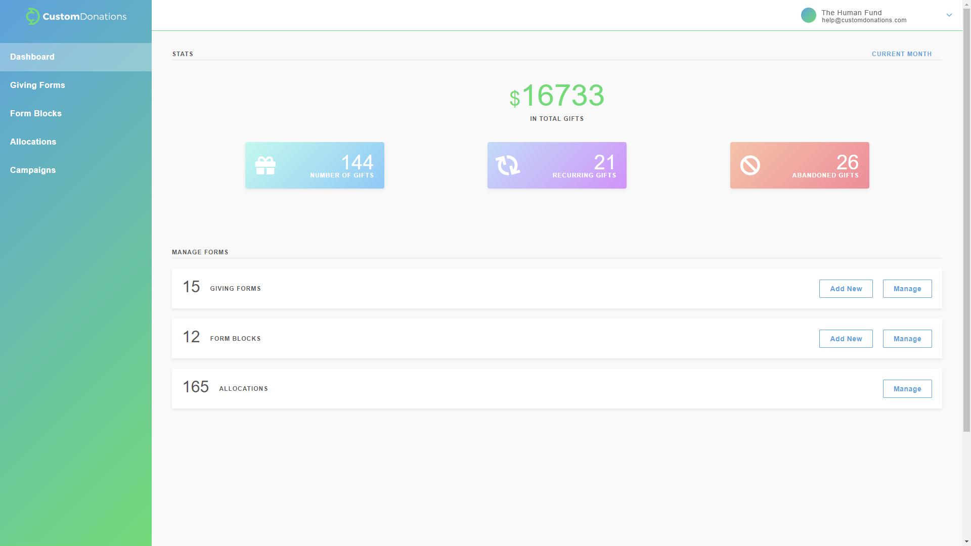 Custom Donations screenshot 2